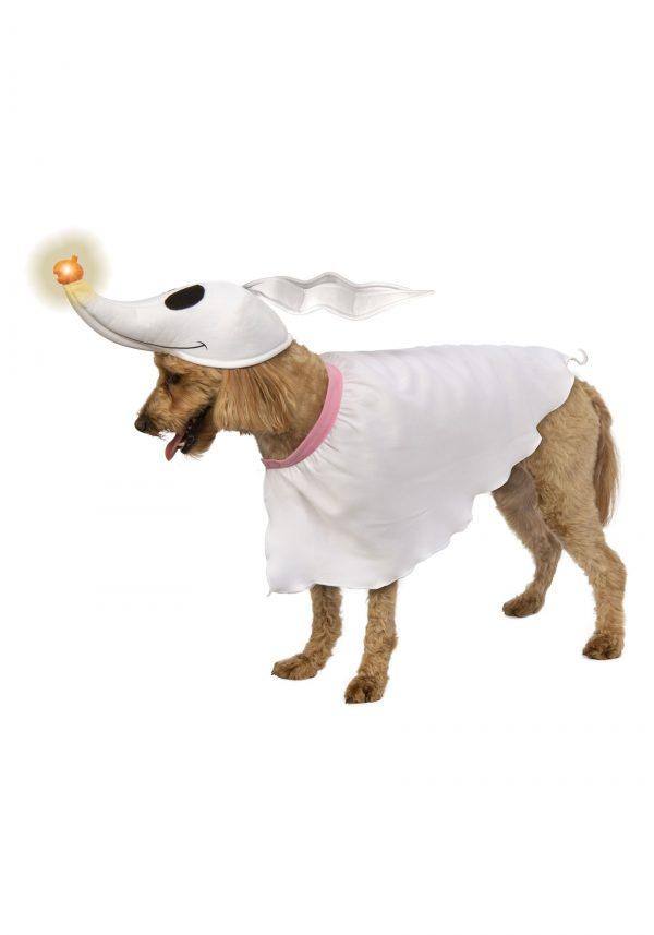 Fantasia de Cachorro Zero Pesadelo Antes do Natal com Nariz Iluminado – Nightmare Before Christmas Zero Dog Costume with Light-up Nose