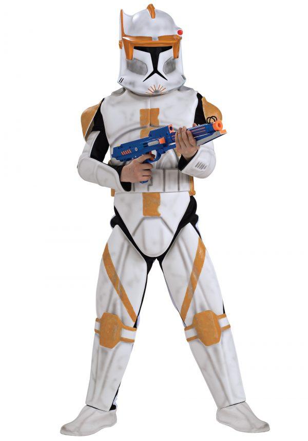 Fantasia de Clone Deluxe Trooper Commander Cody para meninos – Boys Deluxe Clone Trooper Commander Cody Costume
