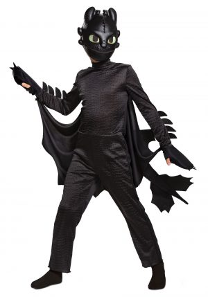 Fantasia de Dragão Fúria da Noite de como treinar seu dragão – Deluxe How to Train Your Dragon Kids Toothless Costume