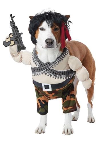 Fantasia de Rambo para Cachorro – Action Hero Costume for Pets