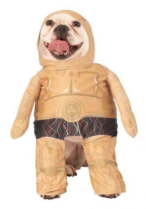 Fantasia de Star Wars para animais de estimação C3PO – Pet C3PO Star Wars Costume