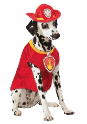 Fantasia de animal de estimação de Patrulha canina Marshall –  Paw Patrol Marshall The Fire Dog Pet Costume