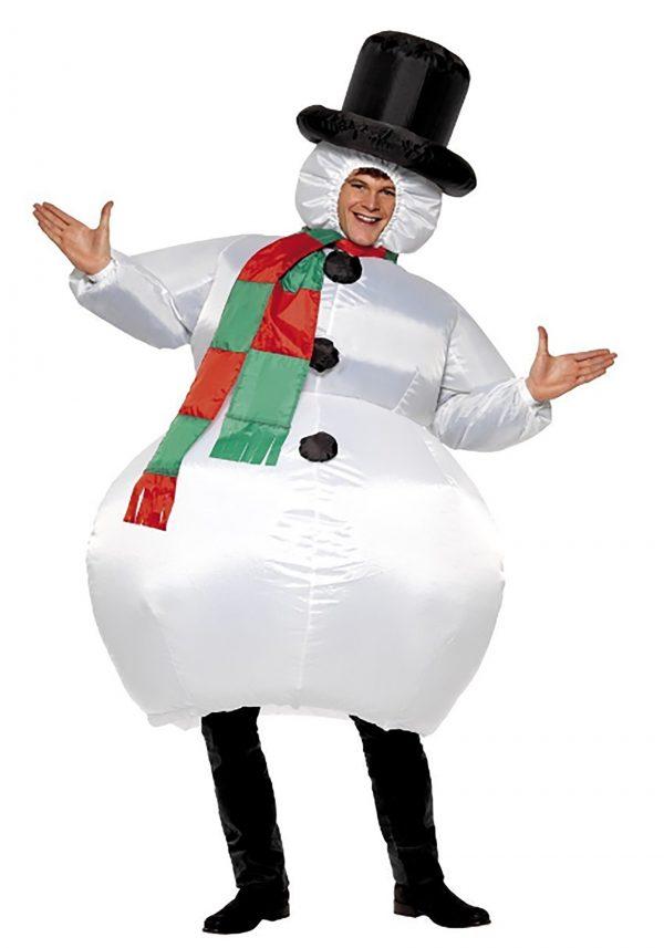 Fantasia de boneco de neve inflável para adultos- Inflatable Snowman Costume for Adults