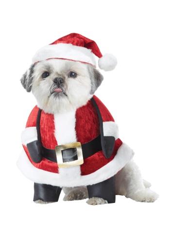 Fantasia de cachorro do papai noel – Santa Pup Dog Costume