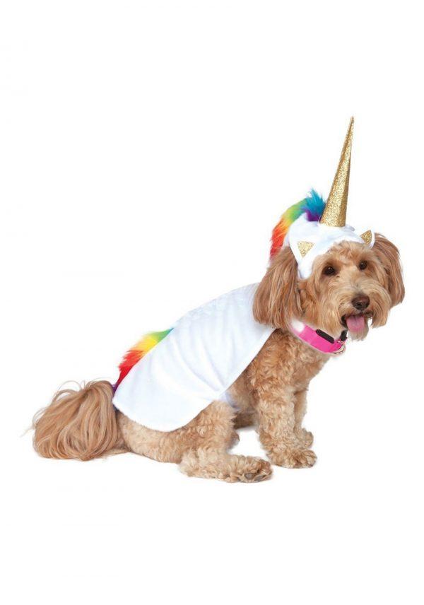 Fantasia de capa de unicórnio para cães – Light Up Collar Unicorn Cape Costume for Dogs