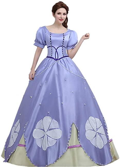 Fantasia de cosplay de princesa Sofia HEYUHECOS – HEYUHECOS Princess Sofia Cosplay Costume Halloween Princess