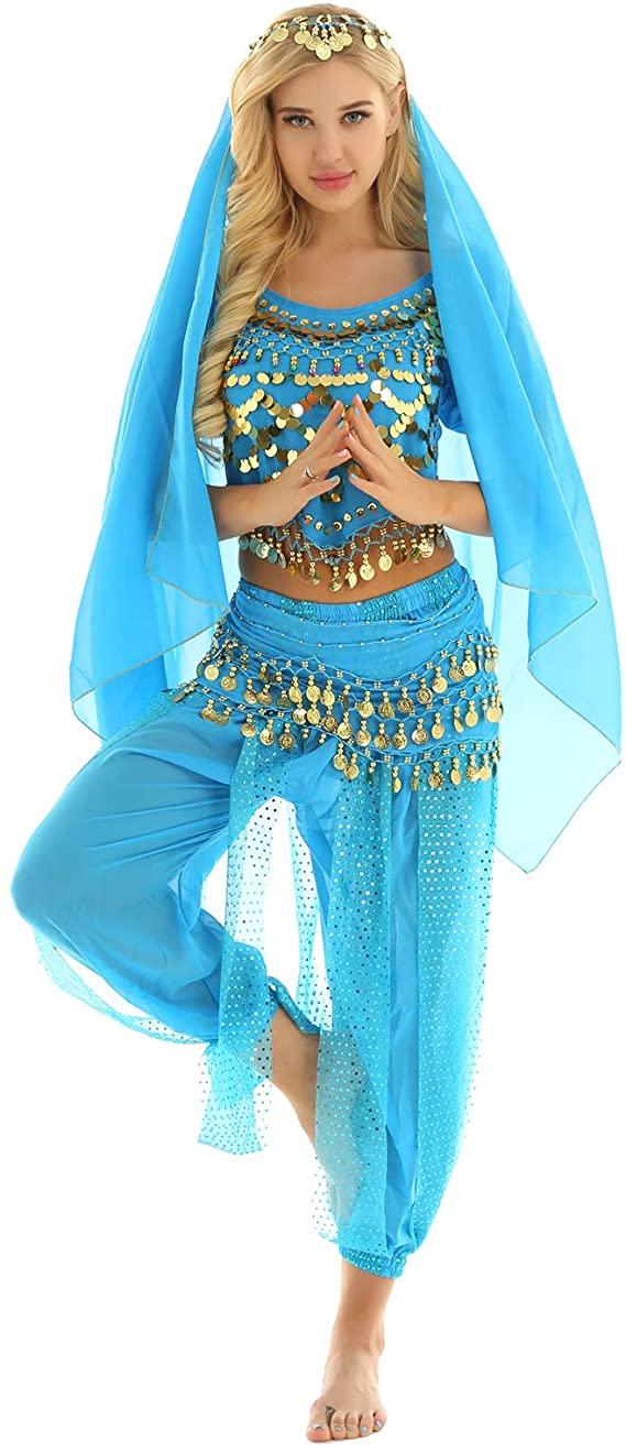 Fantasia de dançarina do ventre feminina – Female belly dancer costume