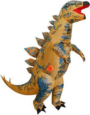Fantasia de dinossauro inflável para crianças, T-Rex Skeleton Stegosaurus – Inflatable Dinosaur Costume for Kids, T-Rex Skeleton Stegosaurus