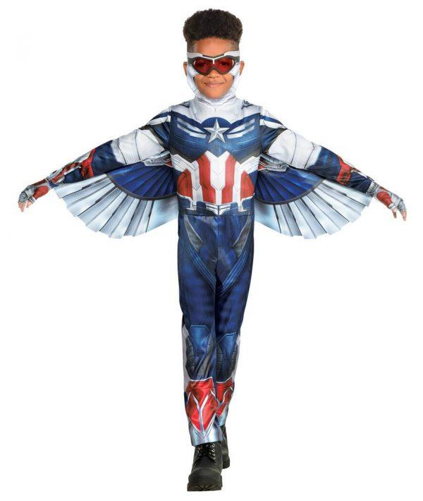 Fantasia de falcão para crianças Marvel, o falcão e o soldado invernal – Falcon Costume for Kids – Marvel The Falcon and the Winter Soldier