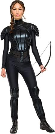 Fantasia de luxo Katniss de Jogos Vorazes – Rubie's Costume Co Women's The Hunger Games Deluxe Katniss Costume