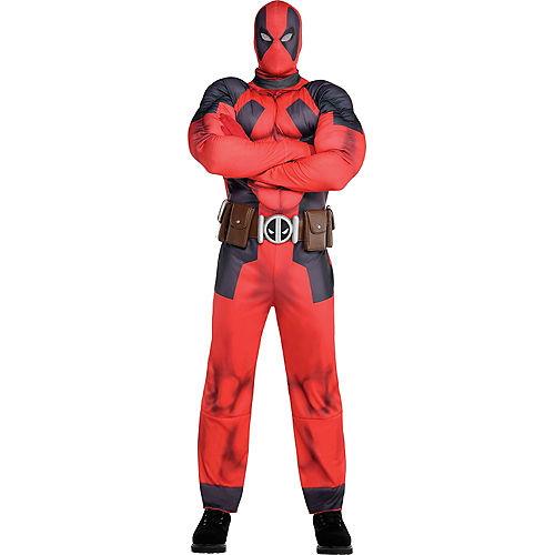 Fantasia de músculo de Deadpool adulto – Adult Deadpool Muscle Costume