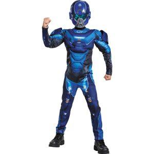 Fantasia de músculo espartano azul para meninos Halo- Boys Blue Spartan Muscle Costume – Halo