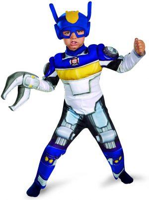 Fantasia  de músculos para criança de Boy's Transformers Chase Rescue Bots – Boy's Transformers Chase Rescue Bots Toddler Muscle Costume,