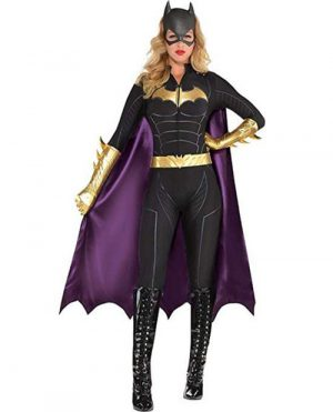 Fantasia de macacão feminino Batgirl Batman – Womens Batgirl Jumpsuit Costume – Batman