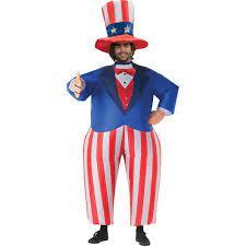 Fantasia de tio Sam inflável para adultos – Adult Inflatable Uncle Sam Costume