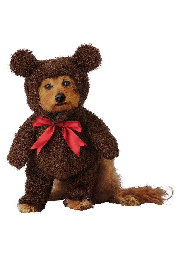 Fantasia de urso de pelúcia para animais de estimação – Teddy Bear Costume for Pets