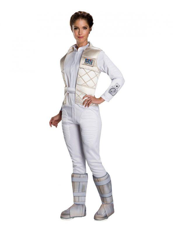Fantasia feminina clássica de Star Wars, Princesa Leia Hoth – Star Wars Classic Womens Princess Leia Hoth Costume