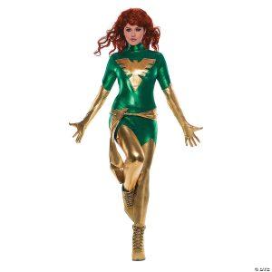 Fantasia feminina de desejos secretos de fênix verde – Women's Secret Wishes Green Phoenix Costume