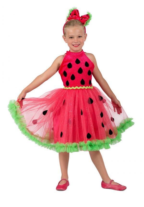 Fantasia feminina de melancia para meninas – Girl's Watermelon Miss Costume