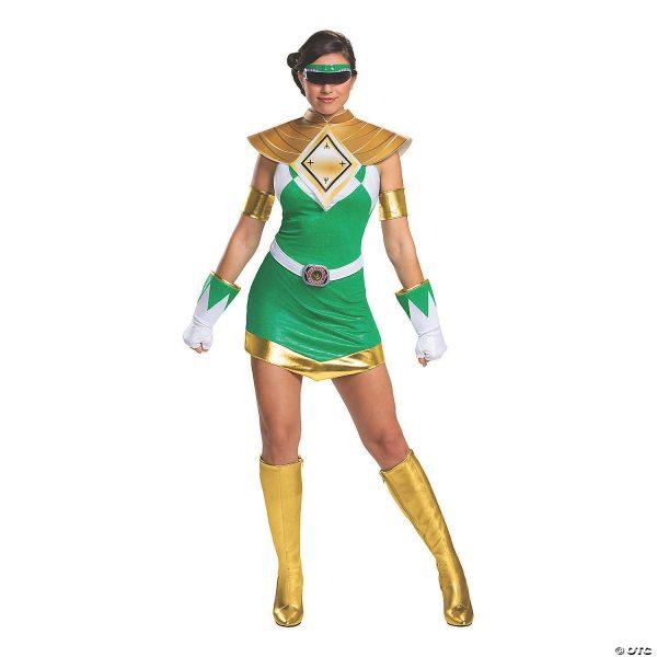 Fantasia feminino Deluxe Ranger Green – Women's Deluxe Mighty Morphin Green Ranger Costume