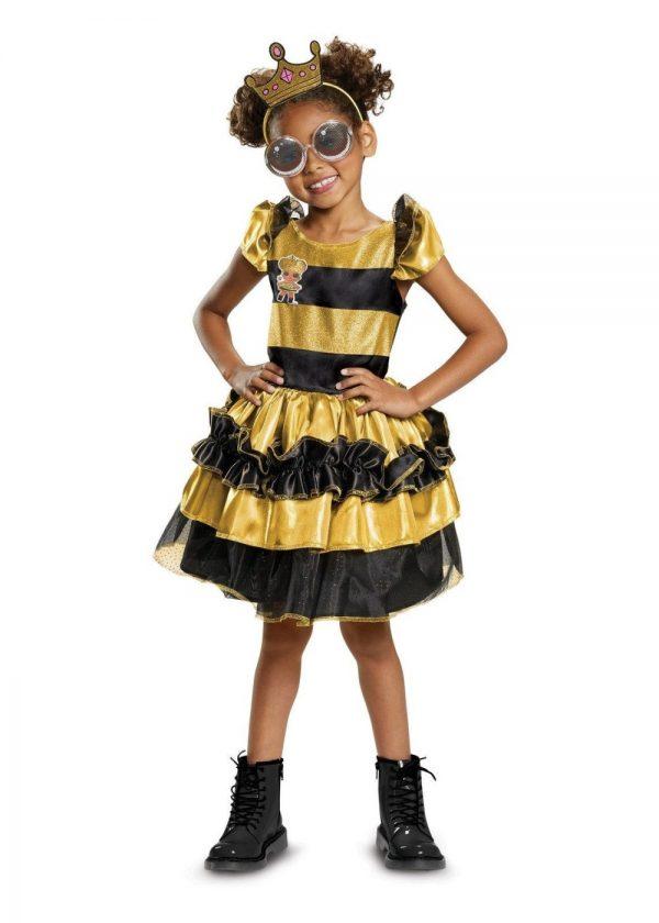 Fantasia feminino Queen Bee Deluxe LOL Surprise – Girls Queen Bee Costume Deluxe – L.O.L. Surprise