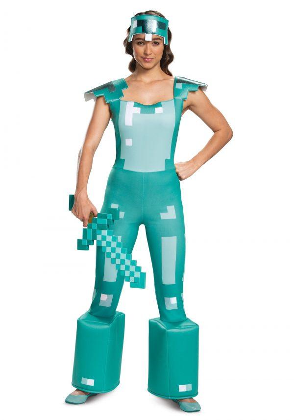 Fantasia feminino da armadura Minecraft – Female Minecraft Armor Costume