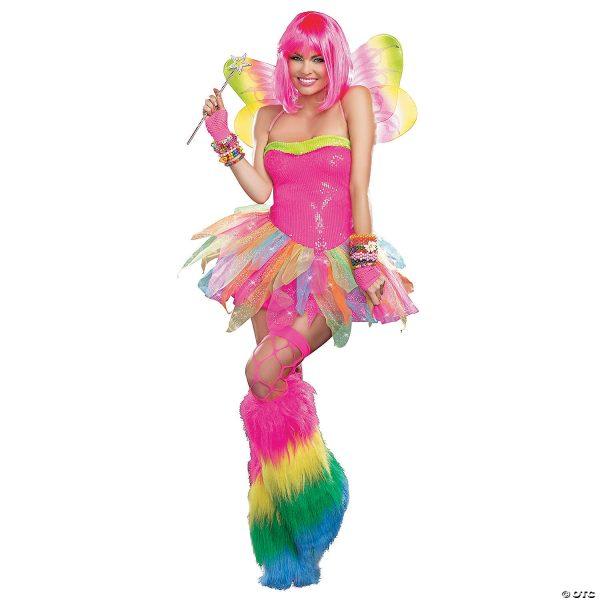 Fantasia feminino de fada arco-íris  – Women's Rainbow Fairy Costume