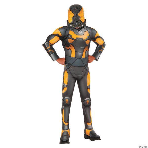 Fantasia homem-formiga com peito musculoso de luxo para meninos – Boy's Deluxe Muscle Chest Ant-Man Yellow Jacket Costume
