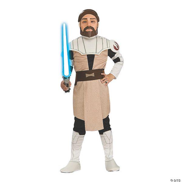 Fantasia infantil de Clone Wars Obi-Wan Kenobi – Kid's Clone Wars Obi-Wan Kenobi Costume