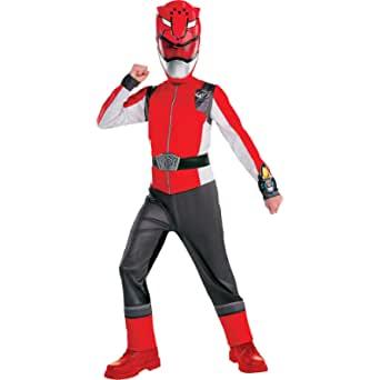 Fantasia infantil vermelha de Ranger Power Rangers – Child Red Ranger Costume – Power Rangers Beast Morphers