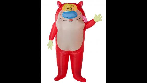 Fantasia inflável Stimpy adulto -Adult Stimpy Inflatable Costume