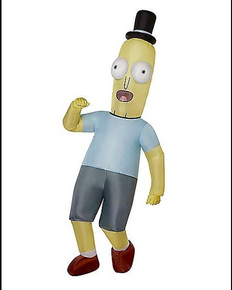 Fantasia inflável adulto do Sr. Poopybutthole  Rick e Morty-  Adult Mr. Poopybutthole Inflatable Costume Rick and Morty