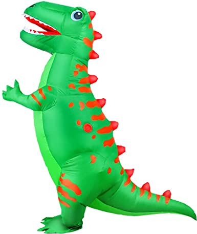 Fantasia inflável de dinossauro adulto KOOY T-REX- Inflatable adult dinosaur costume KOOY T-REX