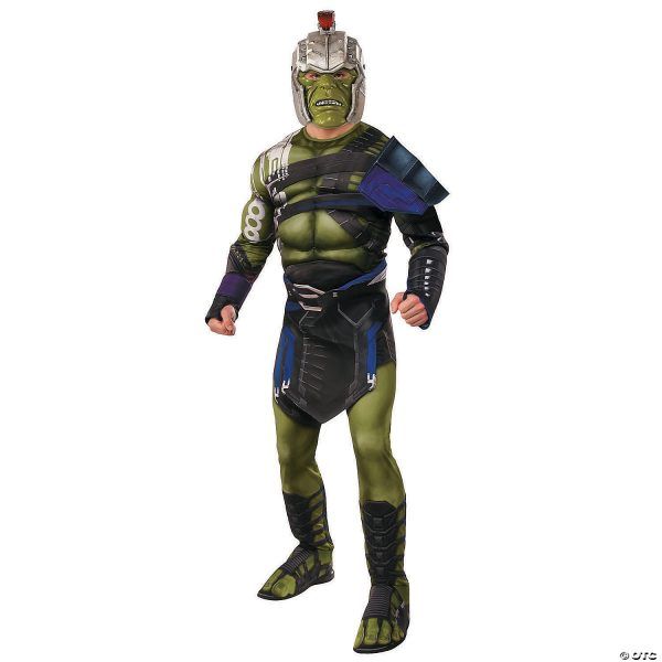 Fantasia masculino Deluxe Muscular Hulk – Men's Deluxe Muscle Chest War Hulk Costume