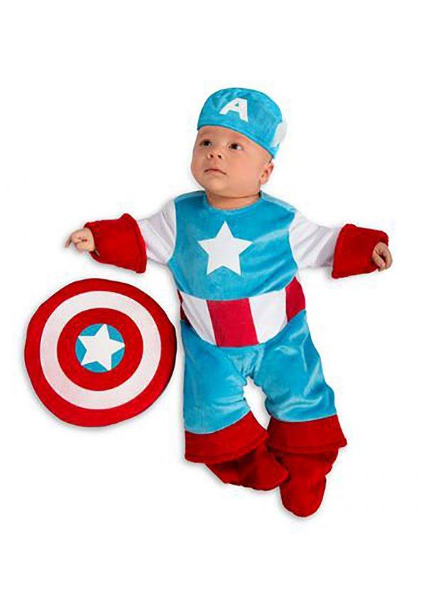 Fantasia para bebe Capitão América – Infant Captain America Costume