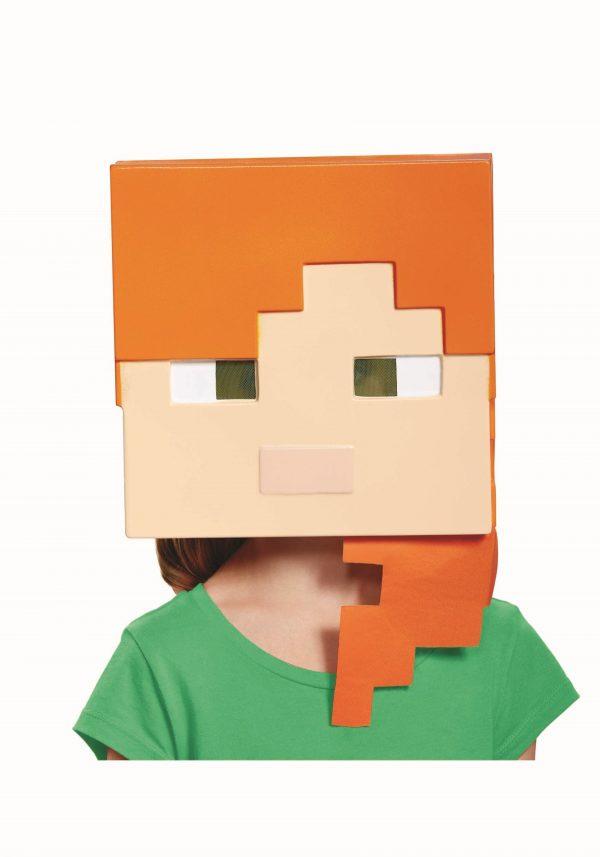 Máscara Minecraft Alex infantil – Minecraft Alex Kids Mask