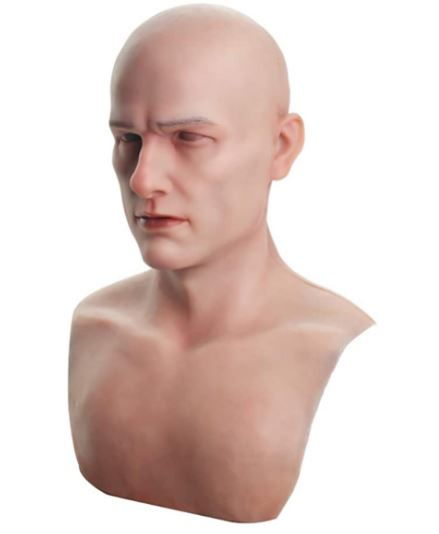 Máscara de silicone facial masculina realista  – Realistic male silicone face mask