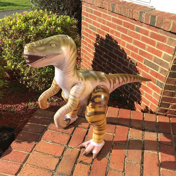 dinossauro velociraptor inflável 1,30 cm – Inflatable Velociraptor Dinosaur Costume