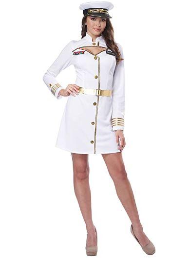 Fantasia Feminina Capitã da Marinha – Navy Captain Women's Costume