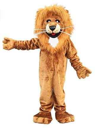 Fantasia de mascote de leão adulto – Adult Lion Mascot Costume