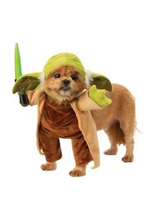 fantasia de sabre de luz para cães Star Wars Yoda – Star Wars Walking Yoda with Lightsaber Costume for Dogs
