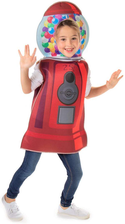 fantasia infantil de Halloween Máquina de chicletes – children's halloween costume gumball machine