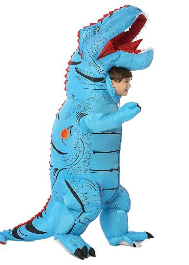 Fantasia T Rex inflável de dinossauro – Funny Costumes T Rex Costume Inflatable
