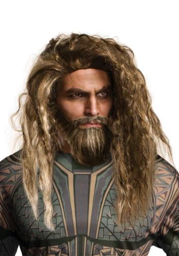 Conjunto de barba e peruca Aquaman masculino – Men's Aquaman Beard and Wig Set