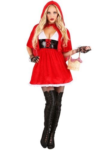 Fantasia Chapeuzinho Vermelho Sexy Plus Size- Plus Size Women's Red Hot Riding Hood Costume