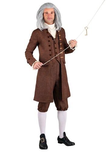 Fantasia Colonial Benjamin Franklin Masculino Plus Size – Men's Plus Size Colonial Benjamin Franklin Costume