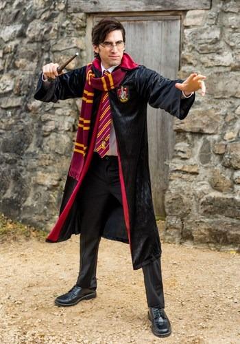 Fantasia Deluxe Harry Potter Grifinória Adulto Plus Size – Deluxe Harry Potter Gryffindor Adult Plus Size Robe Costume