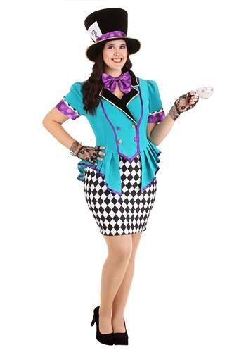 Fantasia Feminino Plus Size Chapeleira Maluca – Women's Plus Size Marvelously Mad Hatter Costume