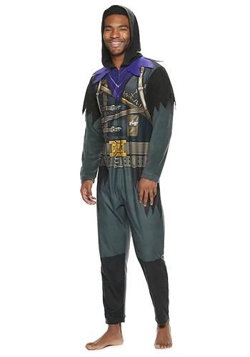 Fantasia Fortnite Raven Union Suit  – Fortnite Raven Union Suit for Men