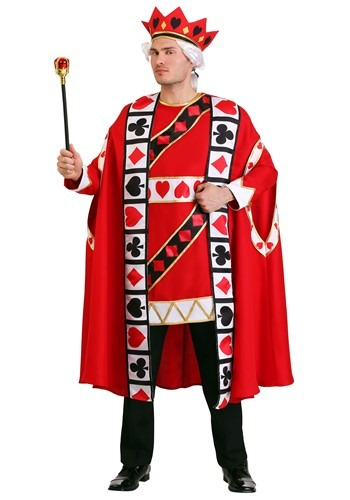 Fantasia Masculino Rei de COpas Plus SIze – Plus Size King of Hearts Costume